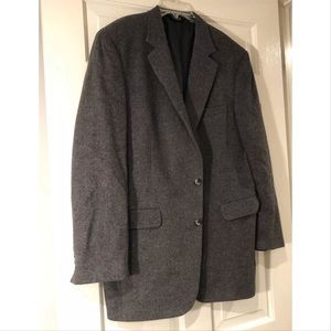 JOS. A BANK Sport Coat 42 Long Gray Camel Hair